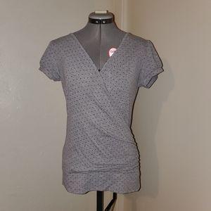 Crisscross V-neck T-shirt